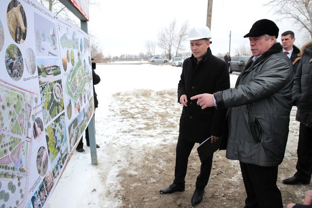 The construction of a new Park zone in the village Starocherkasskaya is being completed